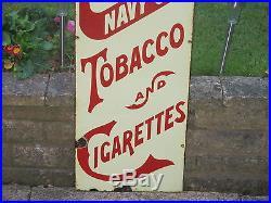 1910s Vintage Original HEAVY ENAMEL CAPSTAN NAVY CUT TOBACCO & CIGARETTES SIGN