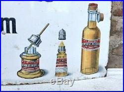 1920s Vintage Rare Patent Enamel Co. H. C. Stephens' Gum Enamel Sign Board London