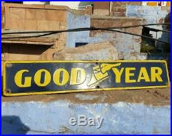 1940's Old Vintage Rare Goodyear Tire Ad. Porcelain Enamel Sign, Collectible