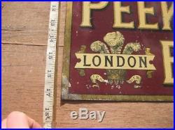 27947 Old Vintage Antique Tin Food Sign Biscuit Peak Frean Factory N0t Enamel