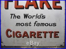 29381 Old Enamel Sign Vintage Shop Advert Metal Wills Gold Flake Cigarettes