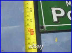 39758 Old Antique Vintage Enamel Sign Shop Advert Brasso Metal Polish Tin Can