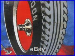 39807 Old Antique Vintage Enamel Sign Garage Advert Goodrich Tires Tyres Auto