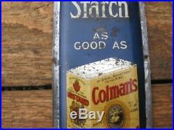 40361 Old Vintage Antique Tin Enamel Paint Sign Fingerplate Colmans Mustard Box