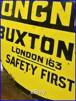 AA Staffordshire road enamel sign advertising street mancave garage metal vintag