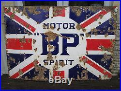 BP Enamel sign. Shell. Esso. Vintage sign. Garage sign. Petrol station. Workshop