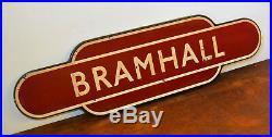 Bramhall LNWR totem railway enamel sign railwayana rail vintage antique mancave