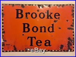 Brook Bond Tea Vintage Enamel Advertising Sign