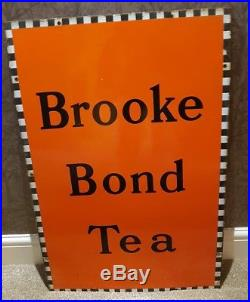 Brooke Bond enamel advertising sign retro vintage 1940s