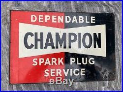 Champion Spark Plug Vintage enamel sign, Automobilia, antique porcelain sign