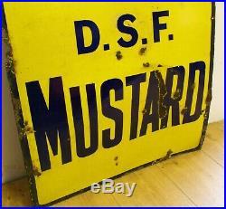 Colmans mustard enamel sign advertising decor mancave garage metal vintage retro