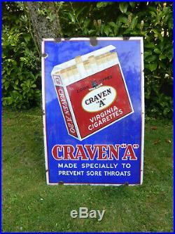 Craven A Vintage Original Enamel Sign