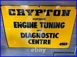 Crypton Tune Vintage Enamel Sign Man Cave