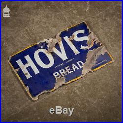 Double Sided Vintage Hovis Bread Enamel Advertising Sign