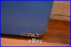 Double sided Way Out railway enamel sign rail metal vintage