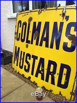 Enamel Sign Colmans Antique Collectable Advertising Old Vintage Metal Sign Rare