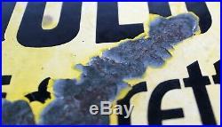 Enamel Sign WILLS GOLD FLAKE WESTWARD SMOKING Antique Double Sided Vintage