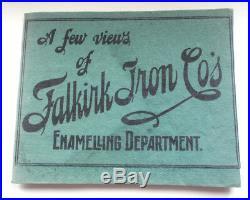 Falkirk Iron Co Catalogue Facsimile Enamel Signs 1900s Vintage Retro Advertising
