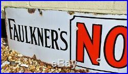 Faukners Nosegay Tobacco enamel sign advertising garage mancave vintage retro in