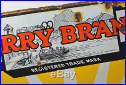 Ferry medical enamel sign original advertising mancave chemist metal old vintage