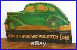 Flying Standard showcard shop display sign poster advertising enamel vintage