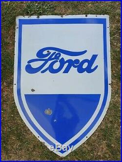 Ford Cars Enamel Sign Vintage Automobilia Garage Memorabilia Advertising