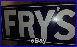 Fry's Chocolate Vintage sign 1910 Edwardian original 300 gold medals & co enamel