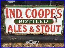 Ind Coope Vintage Enamel Double Sided Bottled Ales sign