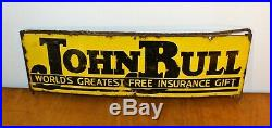 John Bull advertising enamel sign vintage retro antique industrial decor pub man