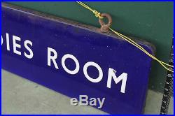 Ladies Room Sign british rail enamel railway train vintage double sided large