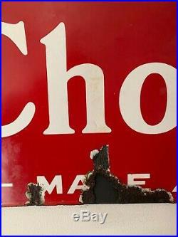 Large Original Vintage Cadbury's Chocolate Enamel Sign