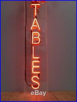 Large Pool Tables Neon Sign Not Enamel Vintage Antique Advertising