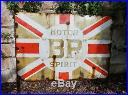 Large Vintage BP Motor Spirit Enamel Sign Vintage Automobilia Garage Oil