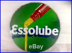 Large Vintage Esso Enamel Sign, Large Double Sided, Genuine Article