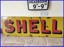 Large Vintage SHELL Enamel Sign