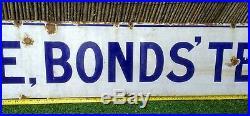 Large vintage advertising enamel sign. Brooke Bonds Tea