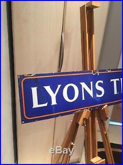 Lyons Tea Original Old Rare Advertising Antique Not Enamel Vintage