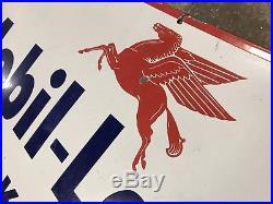 MOBIL LAUREL HOME KEROSENE Genuine Vintage Australian Enamel Sign