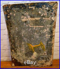 Mennen's toilet powder enamel sign vintage antique retro metal mancave toilet