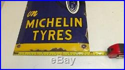 Michelin Vintage Porcelain Enamel Sign