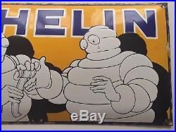 Michelin enamel sign first aid vintage 1930s very rare stunning