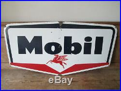 Mobil oil enamel sign. Vintage sign. Shell. BP. Esso