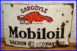 Mobiloil gargoyle 1930s advertising enamel sign garage petrol vintage retro anti