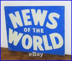 News of the World tin sign advertising mancave garage metal vintage retro enamel
