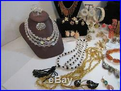 Nice Collection/lot Vtg. Jewelry Signed/unsigned, Sterling, Gf, Over 90 Pcs