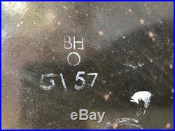 ORIGINAL VINTAGE 24 inch COCA COLA BUTTON CYPRUS GREEK GREECE ENAMEL SIGN 1957