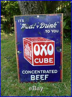 OXO Vintage Original Enamel Sign