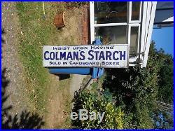 Old Advertising/Enamel Sign/Vintage Sign Colmans Starch