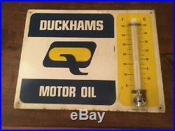 Old Vintage Garage Enamel Sign Shop Advert Duckham's Oil
