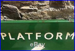 Original Antique Vintage Enamel Platform 6 Sign British Railways Southern